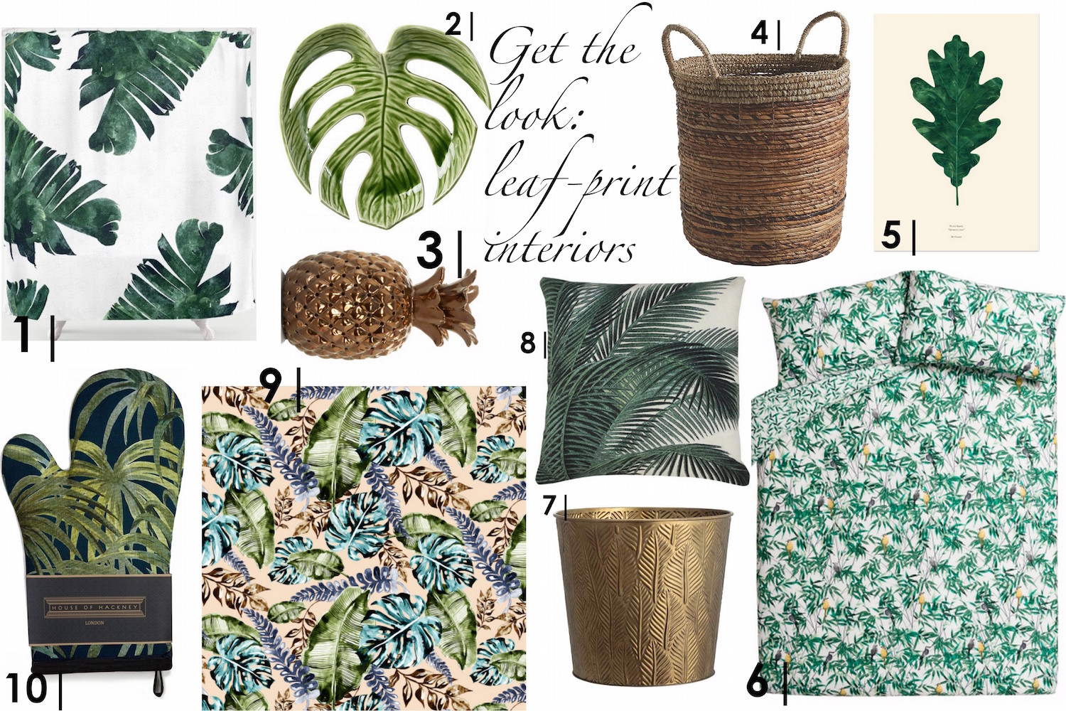 Get the Look: Leaf-Print Interiors | Wolf & Stag