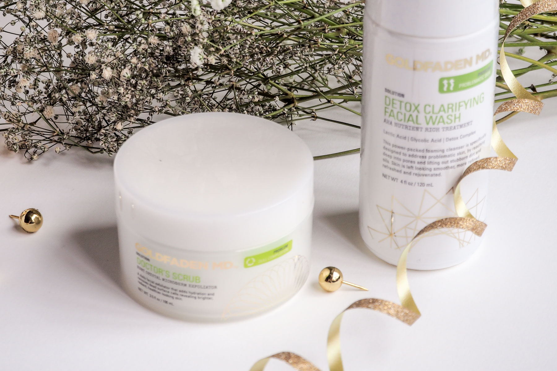 Beauty Review: Goldfaden MD's Detox Clarifying Facial Wash & Doctor's Scrub   Wolf & Stag